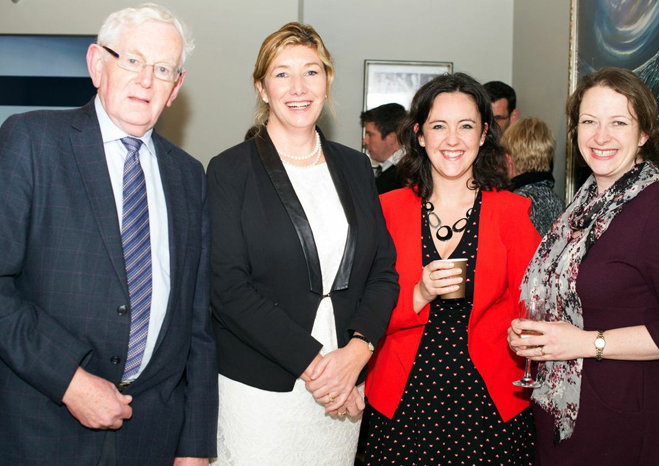 Tom McGuinn, Chief Pharmacy Advisor, PSI; Mary Rose Burke, Director of Policy and Corporate Affairs, IBEC; Aisling Reast, Operations & Education Manager, IIOP; Dr Catriona Bradley, Exec Director, IIOP at the opening of the new headquarters of Pharmapod in Leeson Street, Dublin, on Tuesday November 11.